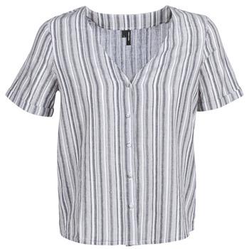 Textiel Dames Tops / Blousjes Vero Moda VMESTHER Marine / Wit