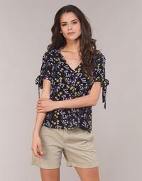 Textiel Dames Tops / Blousjes Vero Moda VMLOTUS Zwart