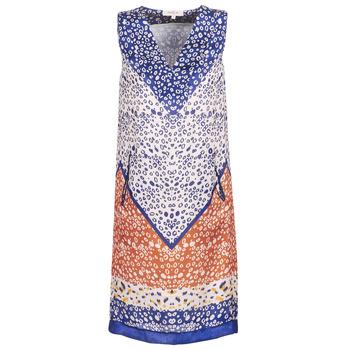 Textiel Dames Korte jurken Derhy FORTERESSE Wit / Blauw / Oranje