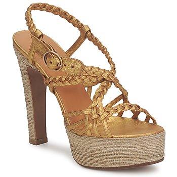 Schoenen Dames Sandalen / Open schoenen Michel Perry 12716 Goud