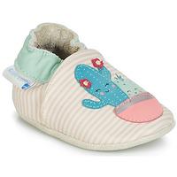 Schoenen Meisjes Babyslofjes Robeez CACTUS Ecru / Roze