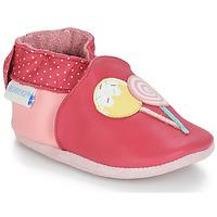 Schoenen Meisjes Babyslofjes Robeez FUNNY SWEETS Roze / Wit