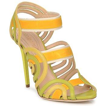 Schoenen Dames Sandalen / Open schoenen Roberto Cavalli RPS691 Groen / Geel
