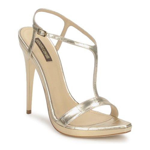 Schoenen Dames Sandalen / Open schoenen Roberto Cavalli RDS736 Goud