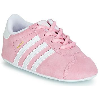 Schoenen Meisjes Lage sneakers adidas Originals GAZELLE CRIB Roze