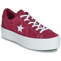 Schoenen Dames Lage sneakers Converse ONE STAR PLATFORM SUEDE OX Fushia / Wit