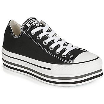 Schoenen Dames Lage sneakers Converse CHUCK TAYLOR ALL STAR PLATFORM EVA LAYER CANVAS OX Zwart