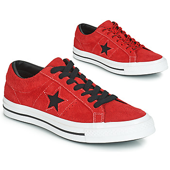 2d4404837751 Schoenen Heren Lage sneakers Converse ONE STAR DARK STAR VINTAGE SUEDE OX  Rood