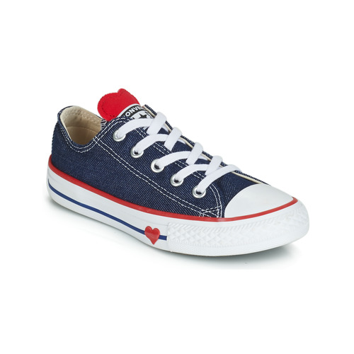 42134326b96 Schoenen Meisjes Lage sneakers Converse CHUCK TAYLOR ALL STAR SUCKER FOR  LOVE DENIM OX Blauw