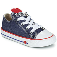 Schoenen Meisjes Lage sneakers Converse CHUCK TAYLOR ALL STAR SUCKER FOR LOVE DENIM OX Blauw