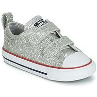 Schoenen Meisjes Lage sneakers Converse CHUCK TAYLOR ALL STAR 2V SPARKLE SYNTHETIC OX Grijs