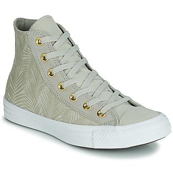 Schoenen Dames Hoge sneakers Converse CHUCK TAYLOR ALL STAR SUMMER PALMS HI Groen
