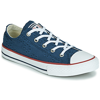 Schoenen Meisjes Lage sneakers Converse CHUCK TAYLOR ALL STAR BROADERIE ANGLIAS OX Marine