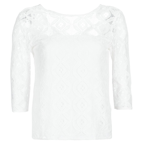 Betty London CONSTANCE Wit - Gratis levering  Textiel Blouses Dames