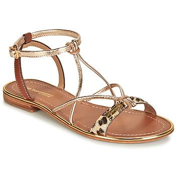 Schoenen Dames Sandalen / Open schoenen Les Tropéziennes par M Belarbi HIRONDEL Luipaard / Goud