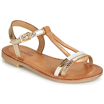 Schoenen Meisjes Sandalen / Open schoenen Les Tropéziennes par M Belarbi BADA Goud / Wit