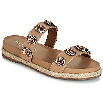 Schoenen Dames Leren slippers KG by Kurt Geiger MAIDEN Camel