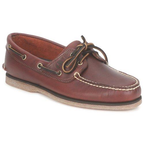 Schoenen Heren Bootschoenen Timberland CLASSIC 2 EYE Rootbeer / Smooth