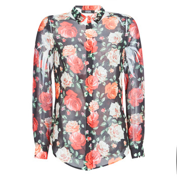 Textiel Dames Overhemden Guess CLOUIS Zwart / Multicolour