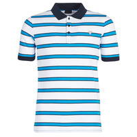 Textiel Heren Polo's korte mouwen Guess RAY Wit / Blauw