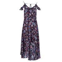 Textiel Dames Lange jurken Guess BORA Zwart / Veelkleurig