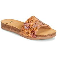 Schoenen Dames Leren slippers Think TANA Bruin