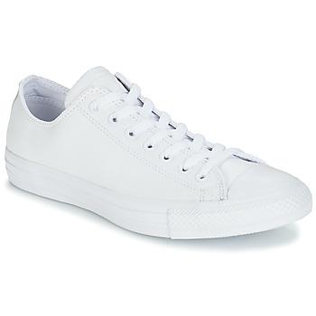 Schoenen Lage sneakers Converse ALL STAR MONOCHROME CUIR OX Wit