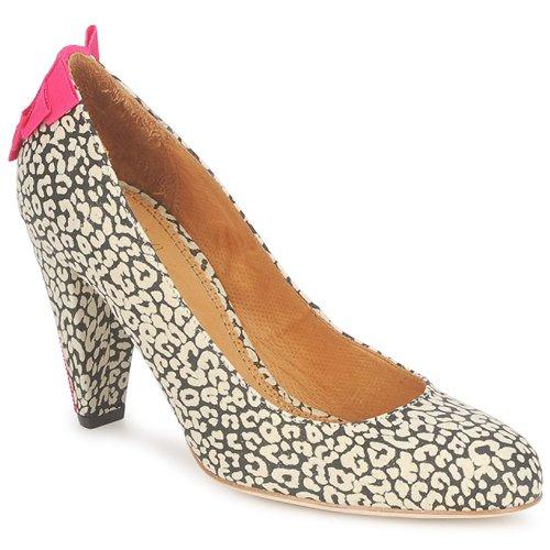 Schoenen Dames pumps Maloles CHRISTIA Zwart / Wit / Roze
