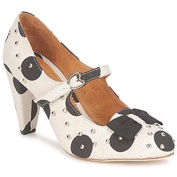 Schoenen Dames pumps Maloles CLARITA Wit / Zwart