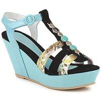 Schoenen Dames Sandalen / Open schoenen Regard RAFAVO Zwart / Blauw