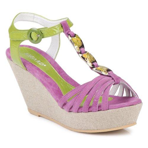 Schoenen Dames Sandalen / Open schoenen Regard RAFAZA Viool / Groen