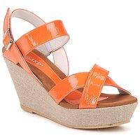 Schoenen Dames Sandalen / Open schoenen Regard RAGA Oranje
