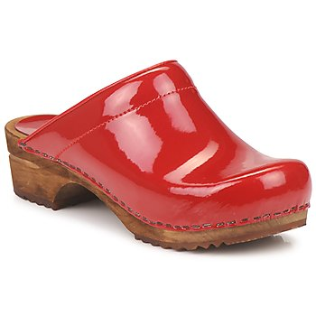 Schoenen Dames Klompen Sanita CLASSIC PATENT Rood