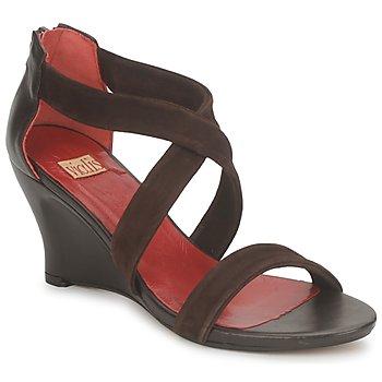 Schoenen Dames Sandalen / Open schoenen Vialis NIVEL Bruin