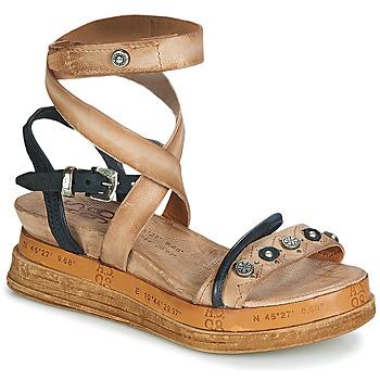 Schoenen Dames Sandalen / Open schoenen Airstep / A.S.98 LAGOS Beige / Zwart