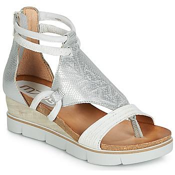Schoenen Dames Sandalen / Open schoenen Mjus TAPASITA Wit / Zilver