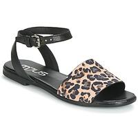 Schoenen Dames Sandalen / Open schoenen Mjus CHAT LEO Zwart / Luipaard