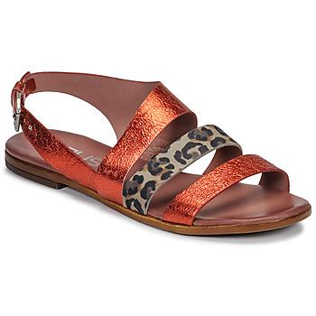 Schoenen Dames Sandalen / Open schoenen Mjus CHAT BUCKLE Rood / Luipaard
