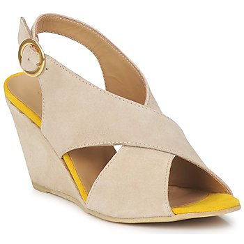Schoenen Dames Sandalen / Open schoenen Pieces OTTINE SHOP SANDAL Taupe
