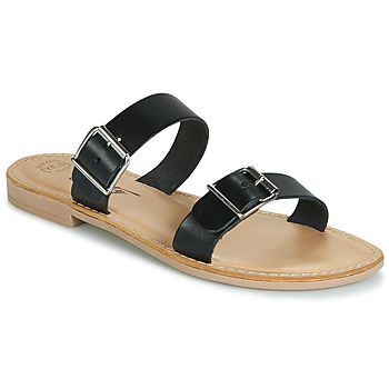 Schoenen Dames Leren slippers Betty London JADALEBE Zwart