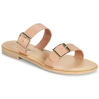 Schoenen Dames Leren slippers Betty London JADALEBE Roze