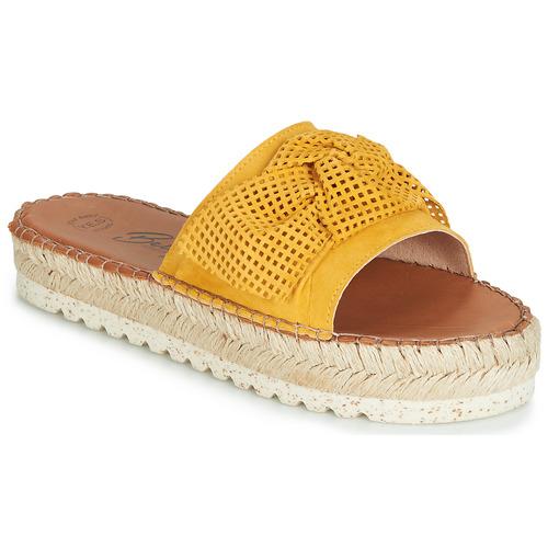 Schoenen Dames Leren slippers Betty London JIKOTIGE Geel