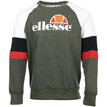 Textiel Heren Sweaters / Sweatshirts Ellesse Eh H Sws Col Rond Tricolore Groen