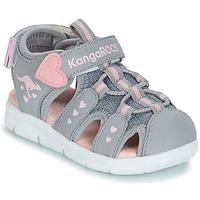 Schoenen Meisjes Sandalen / Open schoenen Kangaroos K-MINI Grijs / Roze