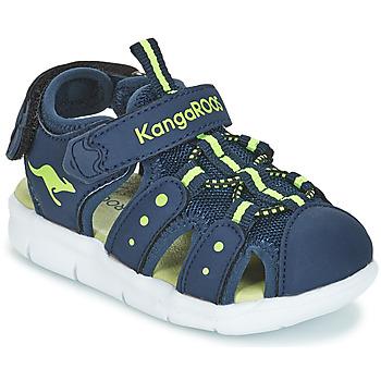 Schoenen Kinderen Sandalen / Open schoenen Kangaroos K-MINI Marine / Geel