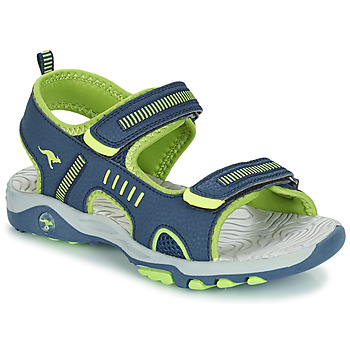 Schoenen Jongens Sandalen / Open schoenen Kangaroos K-LOGAN Marine / Groen