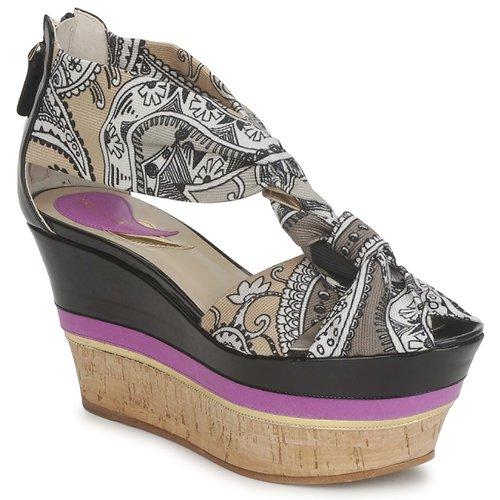 Schoenen Dames Sandalen / Open schoenen Etro 3467 Grijs / Zwart / Violet