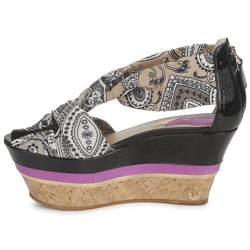 3467 Etro Sandalen / Open Schoenen Dames Grijs Zwart Violet