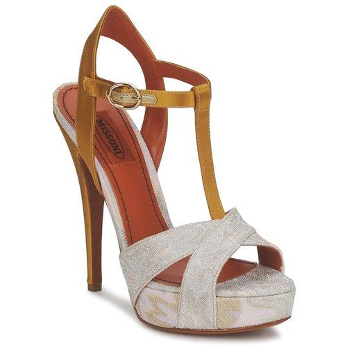 Schoenen Dames Sandalen / Open schoenen Missoni TM30 Goud / Zilver