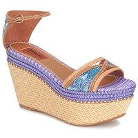 Schoenen Dames Sandalen / Open schoenen Missoni TM26 Blauw / Bruin